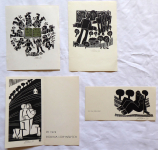 Miroslav Houra - PF 1976, PF 1978, 21. IX. 76, Ex libris