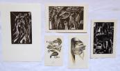 Naděžda Synecká - Tři dřevoryty, dvě barevné litografie