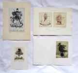 Emílie Tomanová - 3 x Ex libris, PF 1978