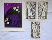 Miroslav Houra - Muzikanti, čtyři grafiky