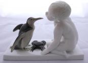 Chlapec s tučňákem a krabem - Rosenthal, Ferdinand Liebermann