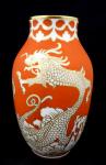 Vázička  čínským drakem - Rosenthal, Dekor Rosenthal Rot