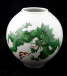 Míšeňská vázička se zeleným drakem Ming