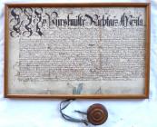 Průvodní listina s pečetí - Moravské markrabství