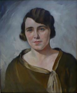 Portrét dívky v šatech