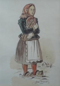 Děvče s vánočkou
