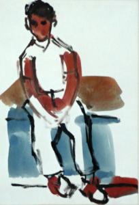 Sedící chlapec