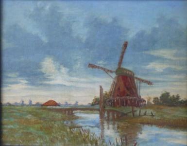 Krajina s větrnými mlýny
