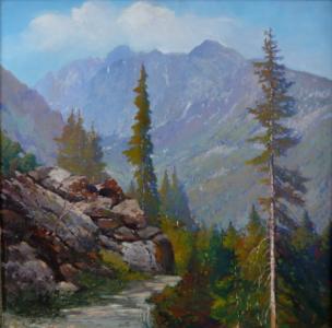 Horská krajina s cestou