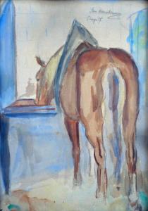 Kůň u žlabu