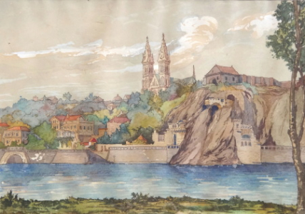 Pohled na Vyšehrad