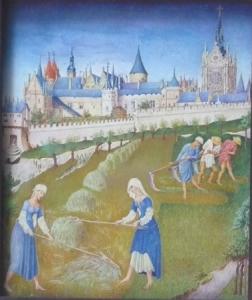 Červenec a srpen z hodinek vévody z Berry - kopie
