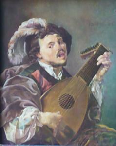 Hendrick Terbrugghen - Hráč na loutnu , kopie