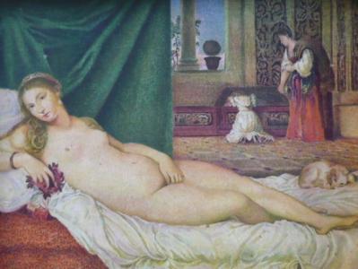 Tizian - Venuše Urbinská , kopie