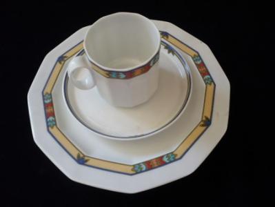 Šálek s podšálkem a dezertním talířkem - Rosenthal