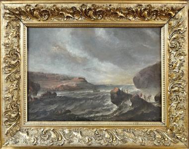 Antonio Marini - okruh , Mořské pobřeží s loďkami (1).JPG