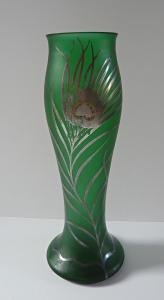 Secesní váza se stříbrným dekorem (1).JPG