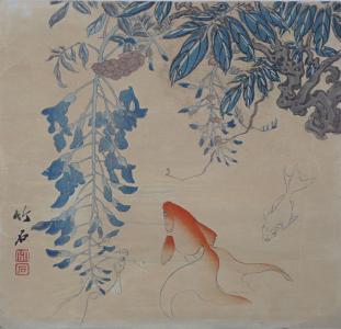 Rybičky a keř - Japonsko (2).JPG