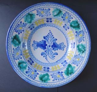 Talíř s modrozelenými květy (1).JPG