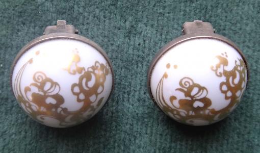 Stříbrné náušnice s porcelánem - Bjorn Vinblad (1).JPG