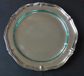 Kulatý stříbrný tác se sklem (1).JPG