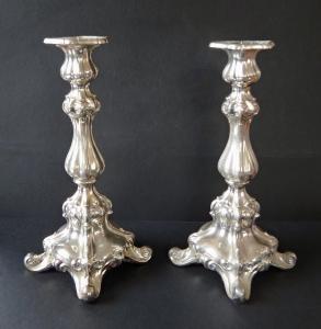 Párové stříbrné svícny - jednoplamenné (2).JPG