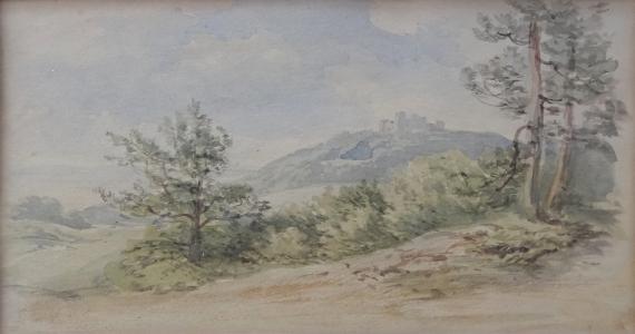 Bedřich Havránek - Krajina s hradem v pozadí (2).JPG