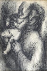 Milena Komrsková - Matka s dítětem (2).JPG