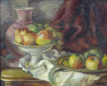 Göshl - Zátiší s džbánem, mísou a tácem s ovocem (2).JPG