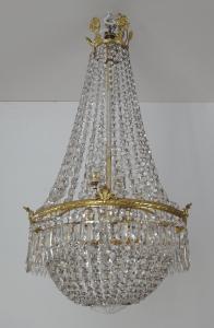 Křišťálový lustr se zlaceným bronzovým kruhem (1).JPG
