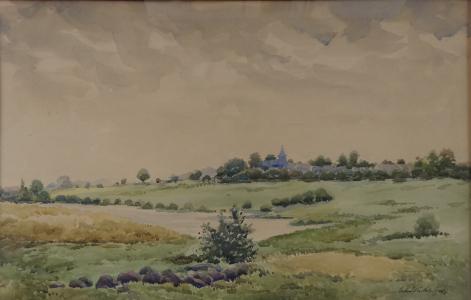 Antonín Kubát - Krajina s kostelem v pozadí (2).JPG