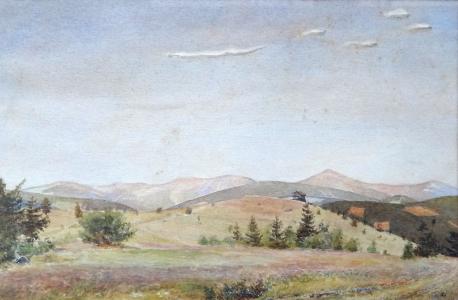 Hugo Carlberg, připsáno - Pohled do kopcovité krajiny (2).JPG