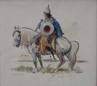 Jaroslav Vojna - Ruský bohatýr na koni (2).JPG