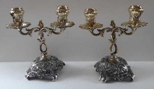 Párové svícny z bílého a žlutého kovu (1).JPG