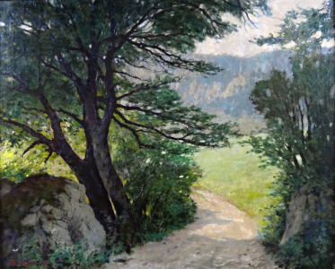 Albert Müller - Cesta mezi stromy a kameny (2).JPG