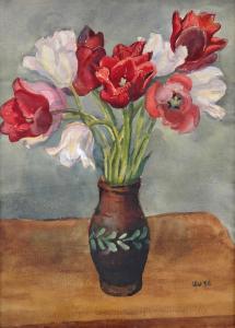 Lev Šimák - Tulipány ve váze (2).JPG