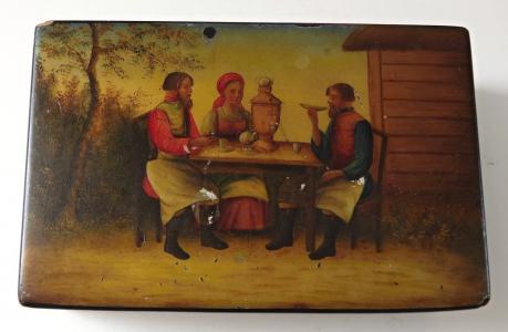 Ruská malovaná laková krabička - Vishnyakov (1).JPG