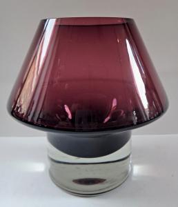 Váza z čirého a fialového skla - Finsko (1).JPG