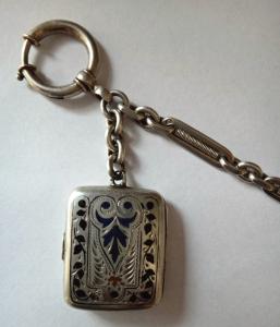 Stříbrný řetízek k hodinkám, s medailonem (2).JPG