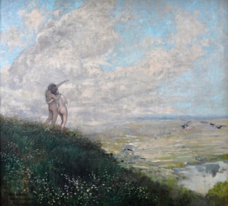 Ferdinand Engelmüller - Milenci hledící do kraje (2).JPG