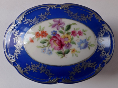 Modrá dózička se stříbrem a květinami - Ilmenau (1).JPG