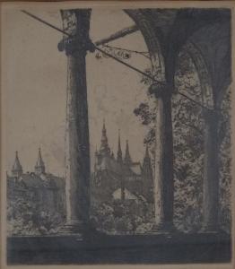 Jaroslav Vondrouš - Pražský hrad z Belvederu (2).JPG