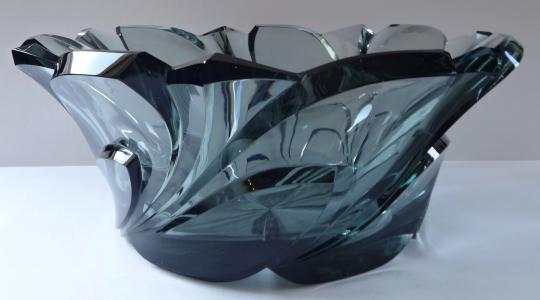 Velká mísa z kouřového skla - art deko (1).JPG