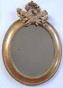 Oválné zrcadlo, rokokové - Francie (1).JPG