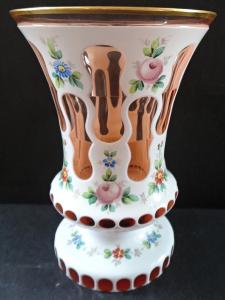 Sklenice z růžového skla, vrstvená a malovaná (1).JPG