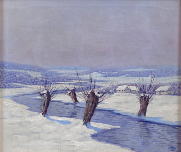 Ladislav Vraný - Vrby u potoka v zimě (2).JPG