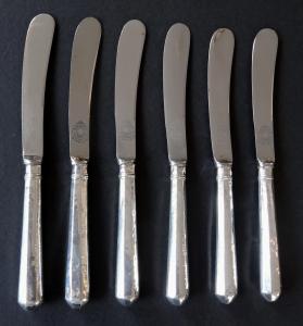 Šest stříbrných dezertních nožů - Sheffield (1).JPG