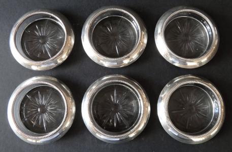 Šest kulatých misek, stříbrný okraj - Frank M. Whiting & Co (1).JPG
