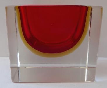 Masivní skleněná obdélná miska - Murano (1).JPG