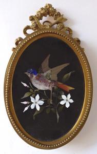 Bronzový rámeček s ptáčkem - Pietra dura (1).JPG